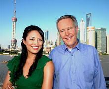 James Fallows and Emily Chang together in Shanghai